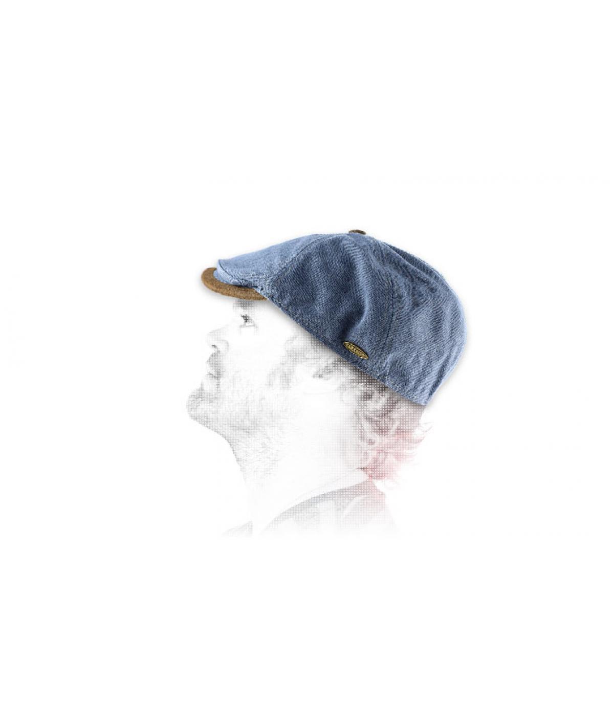 Flache Cap Flatcap Denim Fléchet