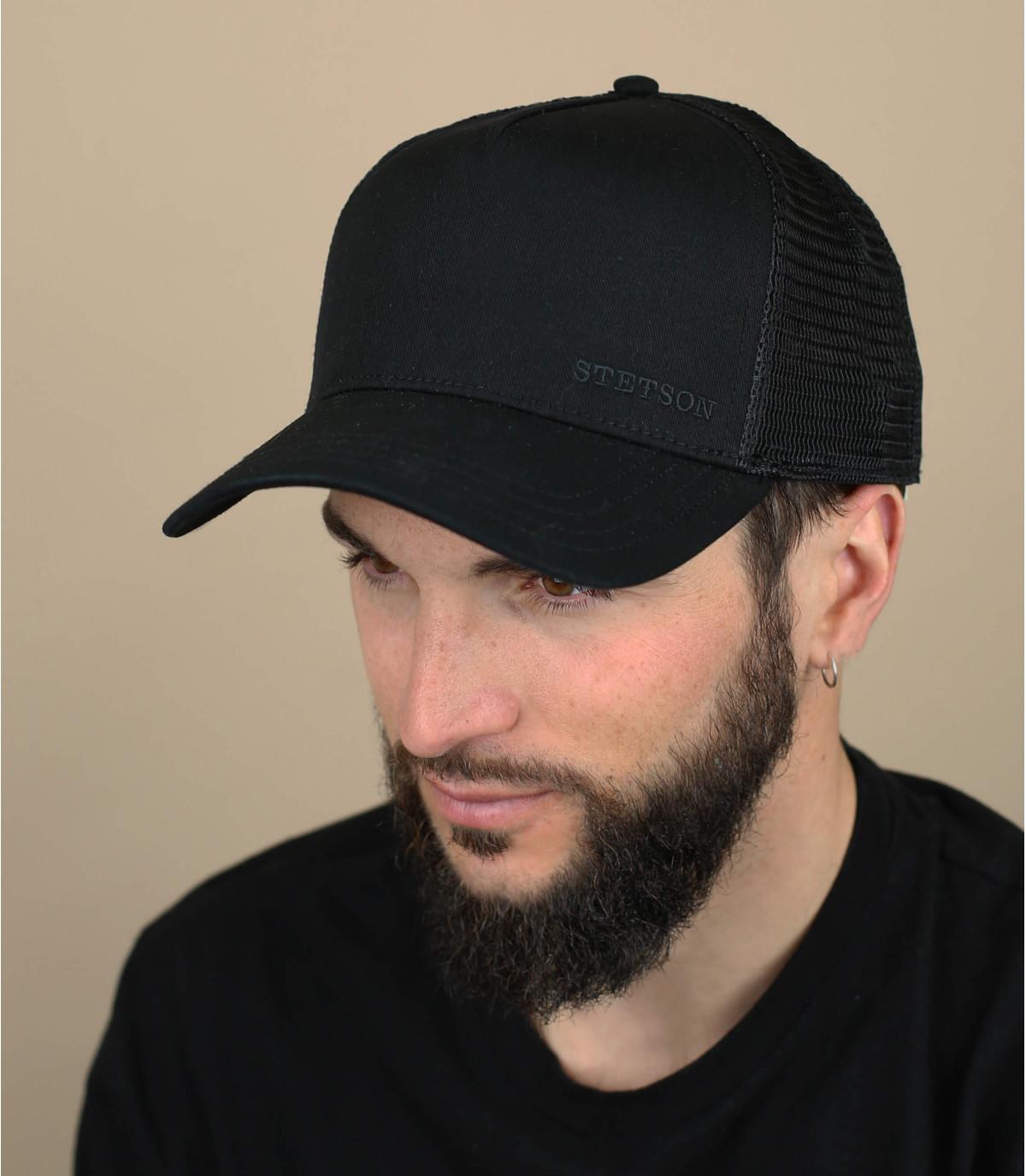 schwarze Trucker Cap
