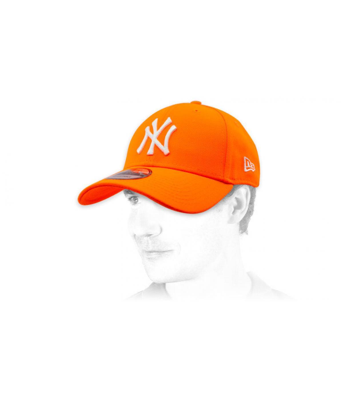 Casquette NY orange leuchtend