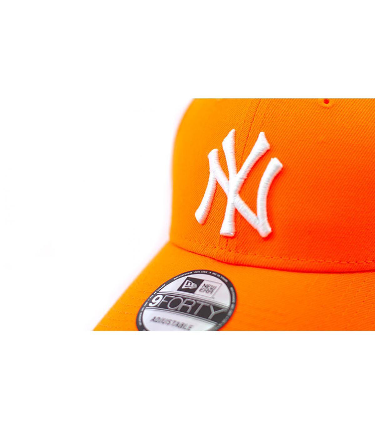 Details Cap NY 9forty neon orange white - Abbildung 3