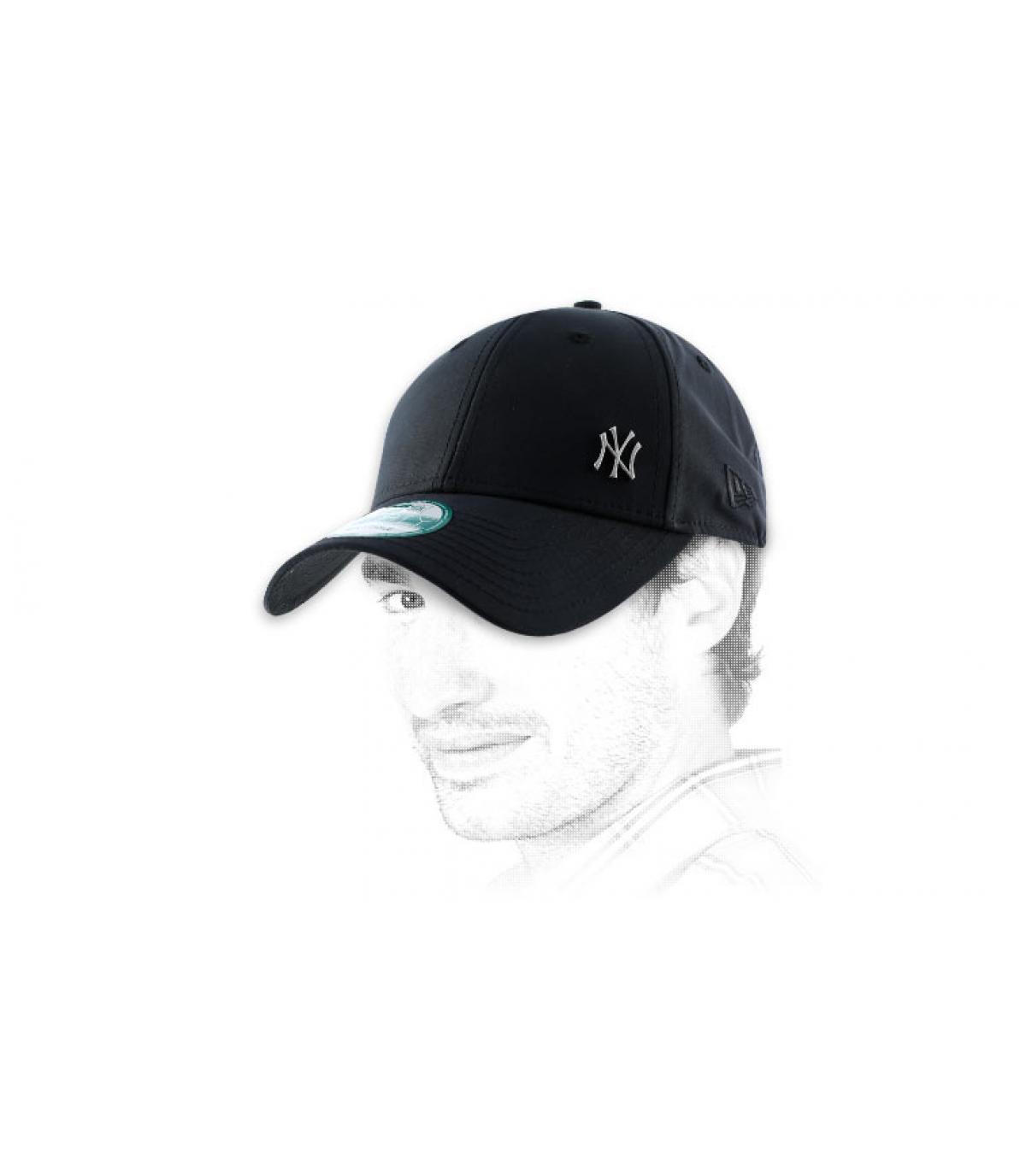 Schwarze Cap mini Logo NY
