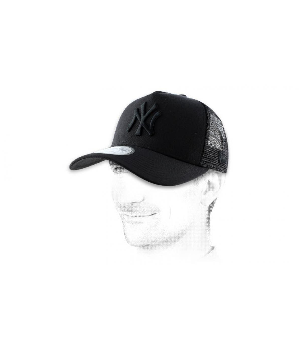 Netz Cap NY schwarz
