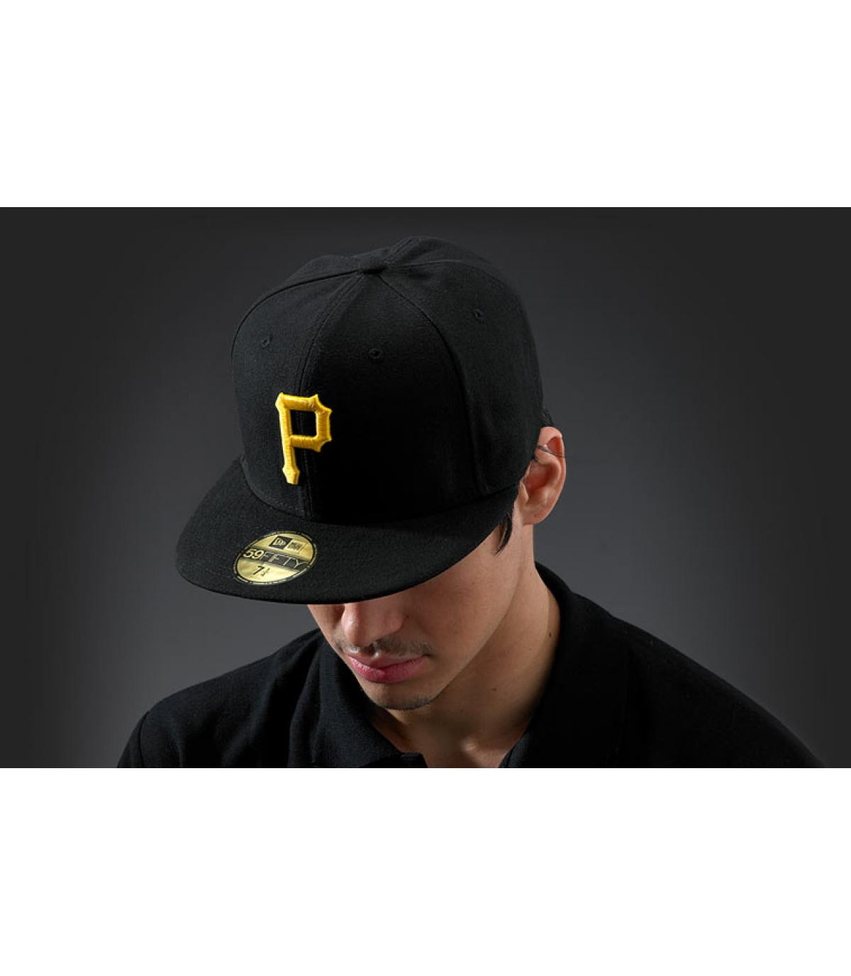 Cap Pittsburgh schwarz