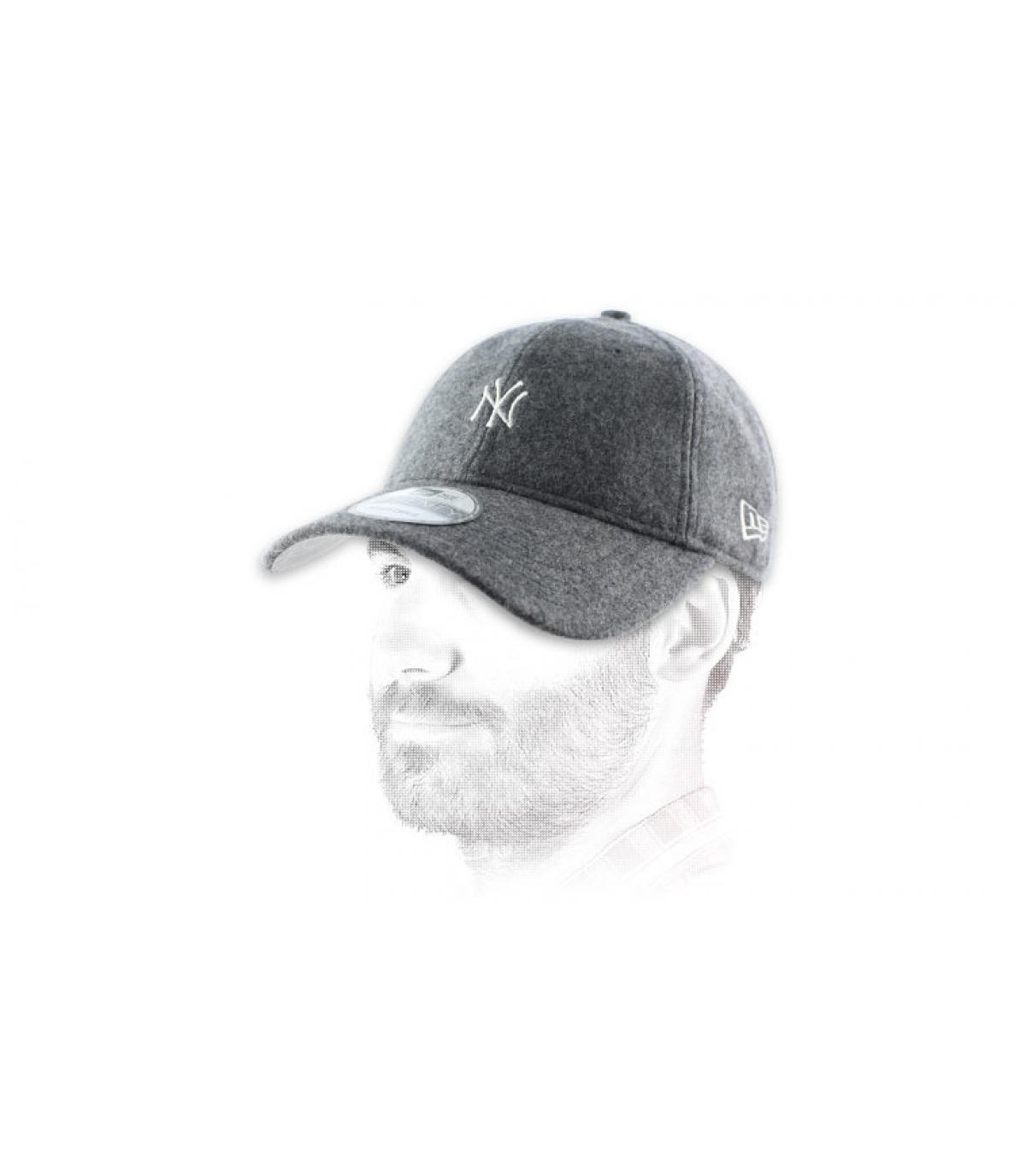 trucker Cap NY Wolle grau