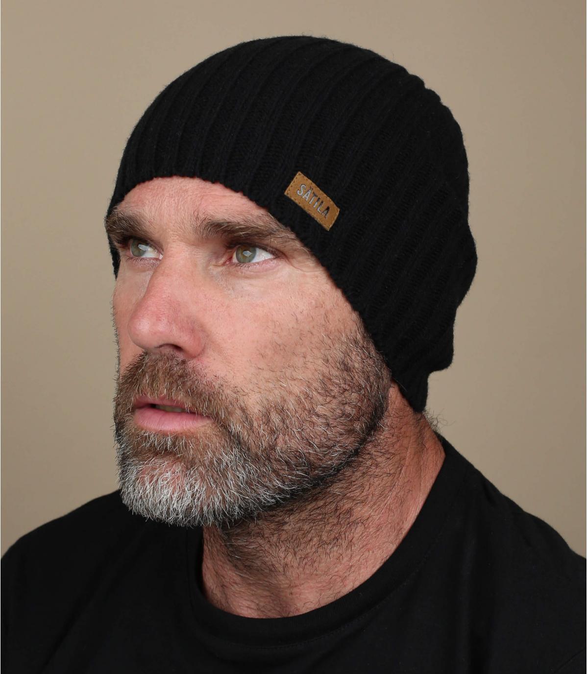 Mütze Beanie simpel schwarz