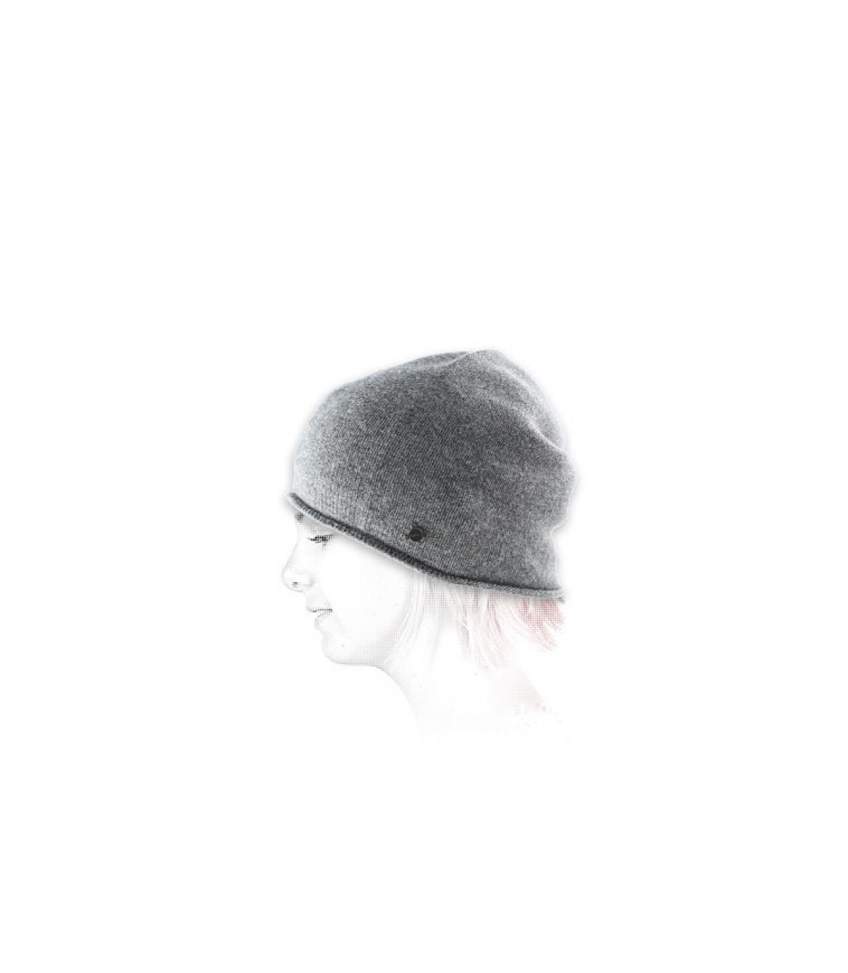 Mütze Kaschmir grau
