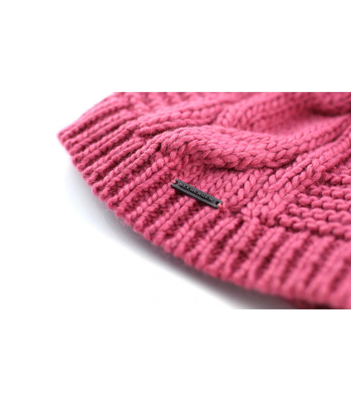Details Bonnet long pompon bois de rose - Abbildung 3