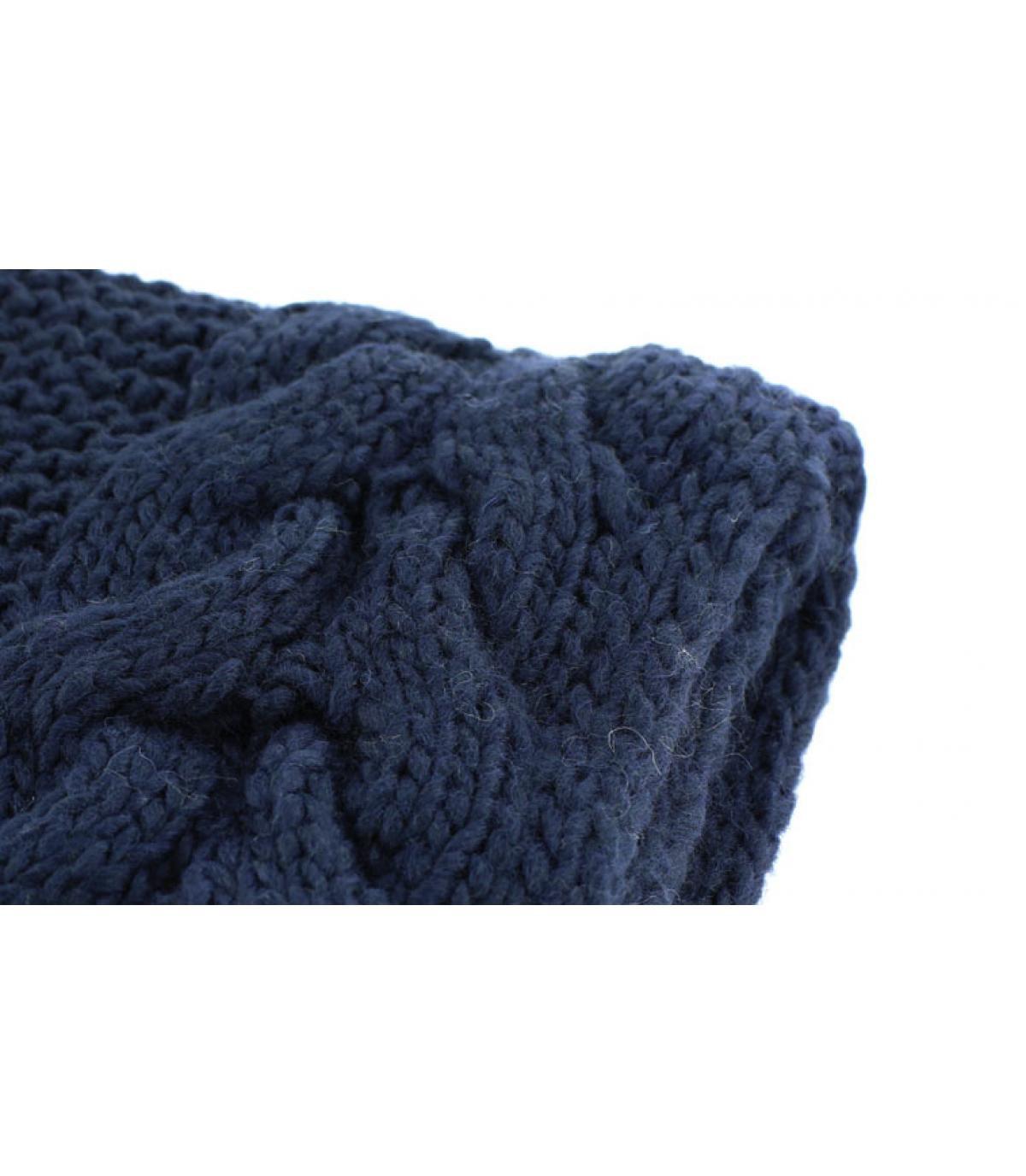 Schal Fransen marineblau