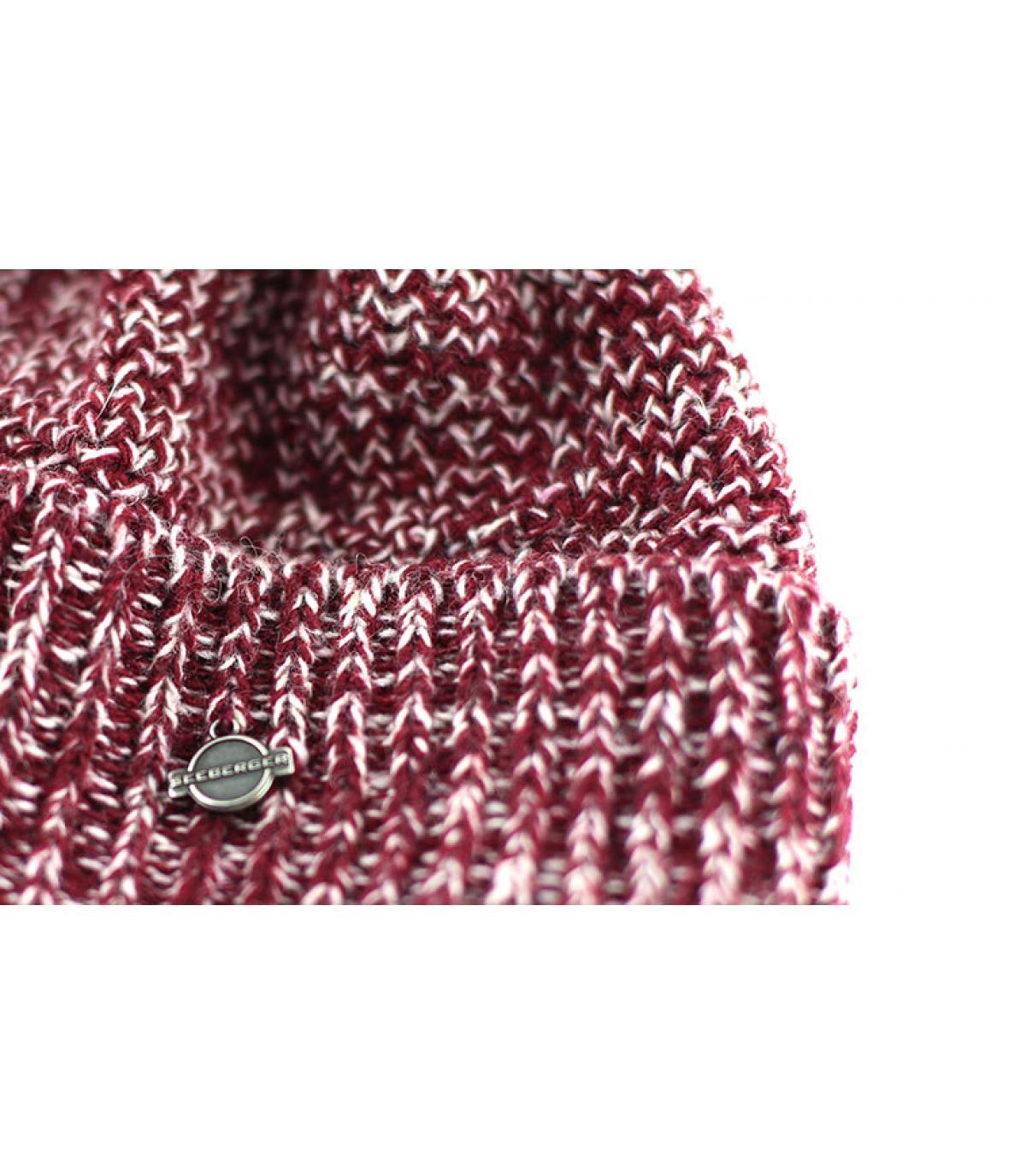 Details Bonnet avec faux pompon cassis - Abbildung 3