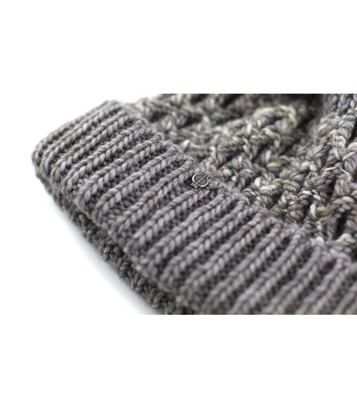 Details Bonnet turn up pompon nutria - Abbildung 3