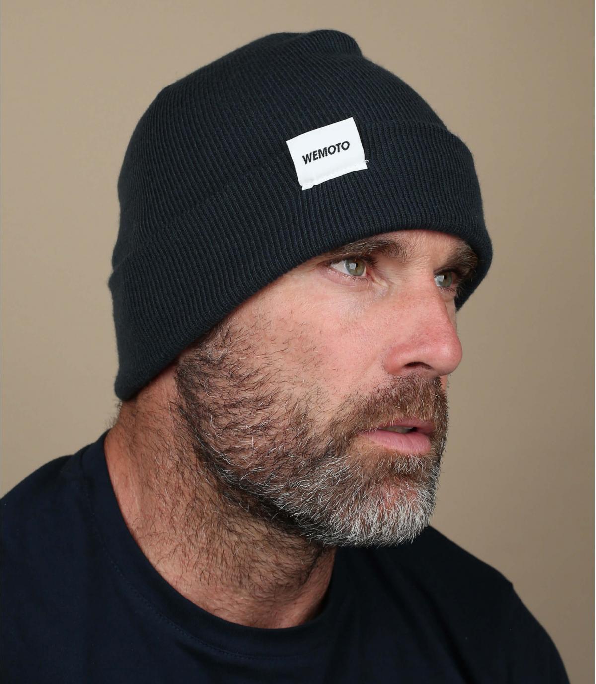 Mütze mit Rand marineblau Beanie
