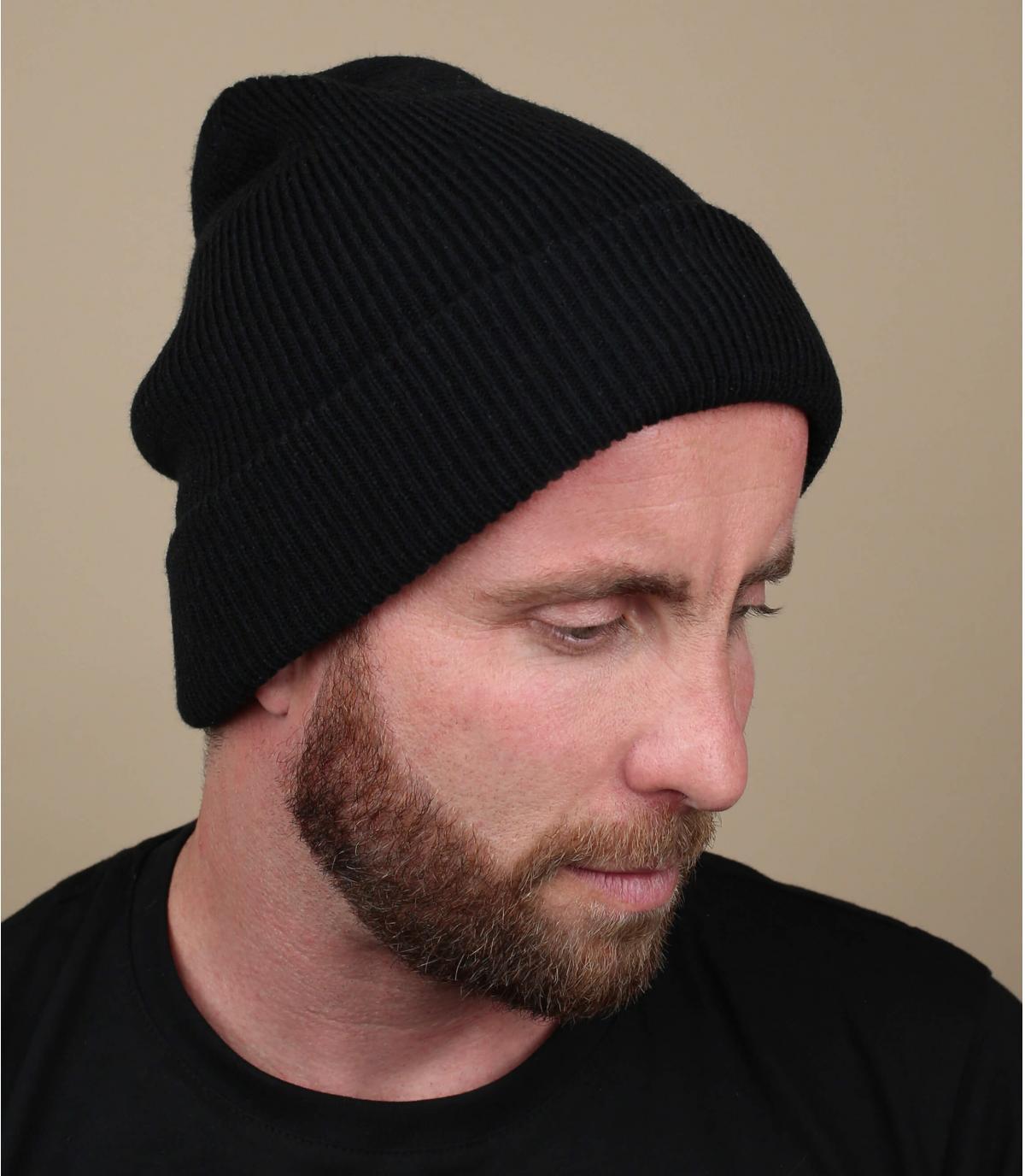 Schwazre oversize Mütze