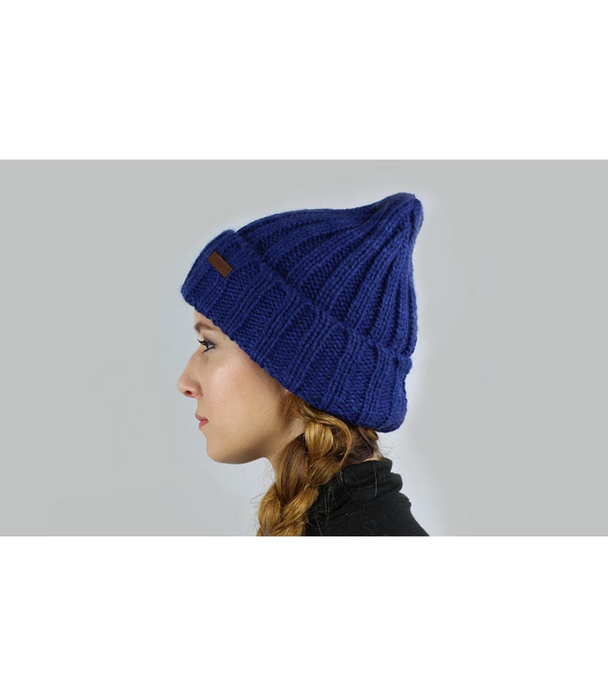 Oversize Mütze blau