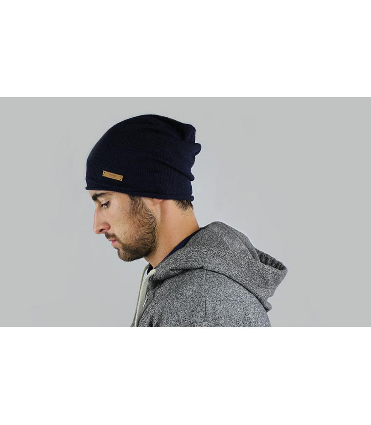 Mütze lang dunkelblau