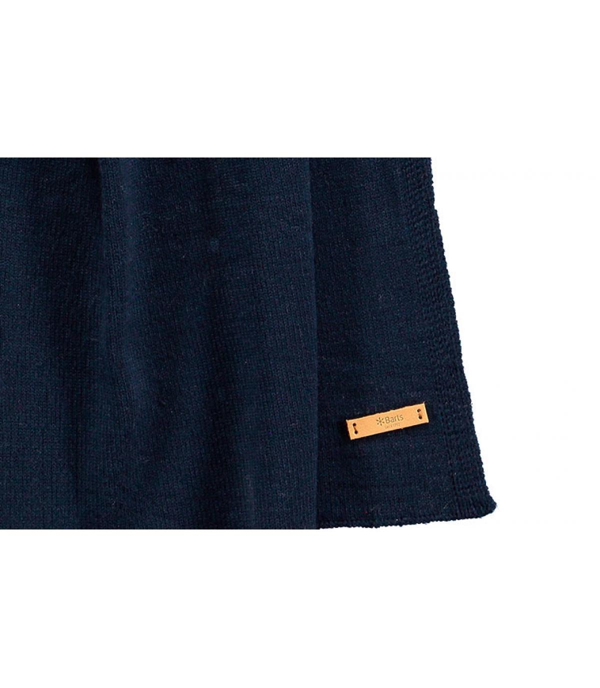 Schal einfarbig blau