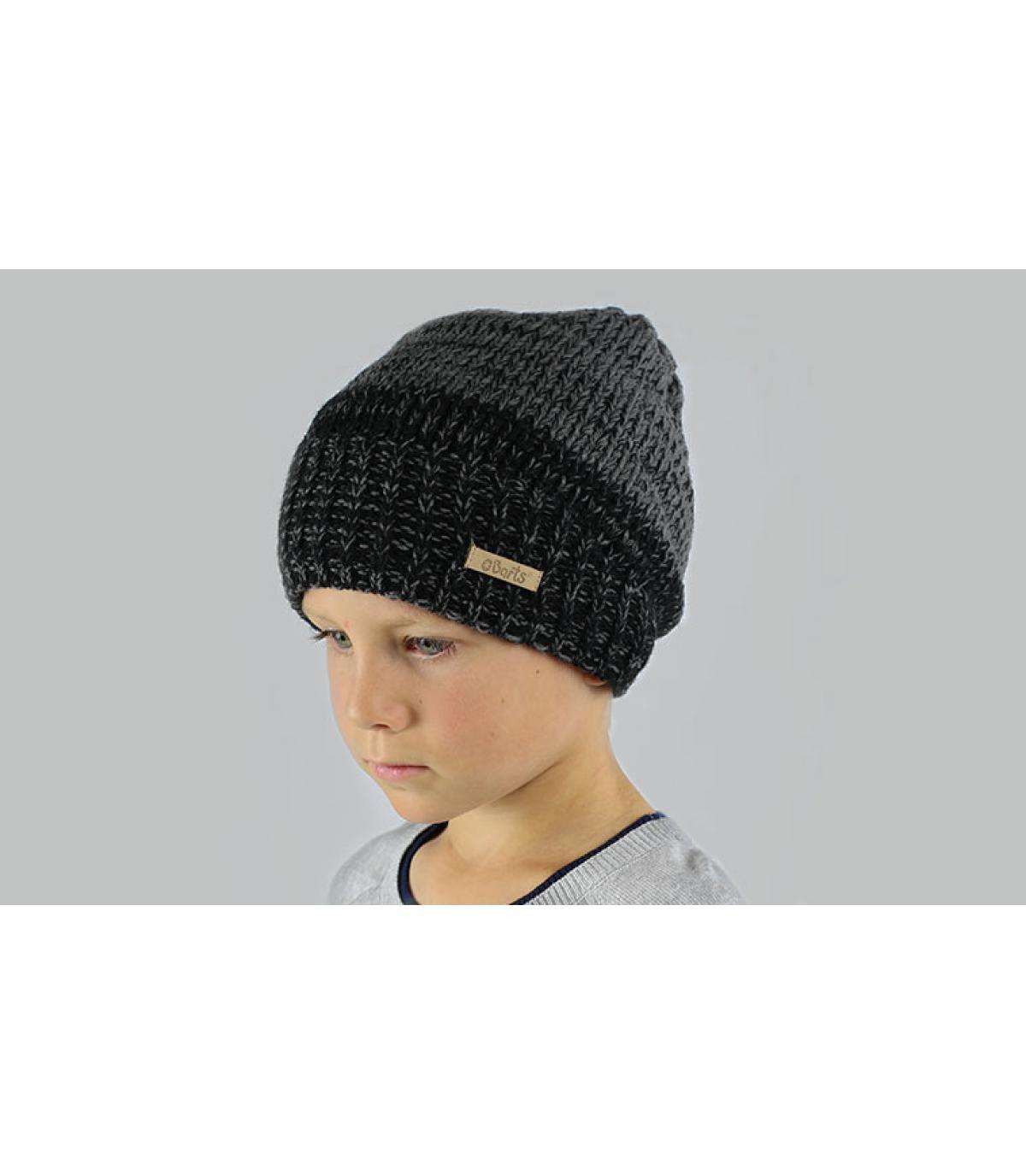 Lange Mütze Junge schwarz