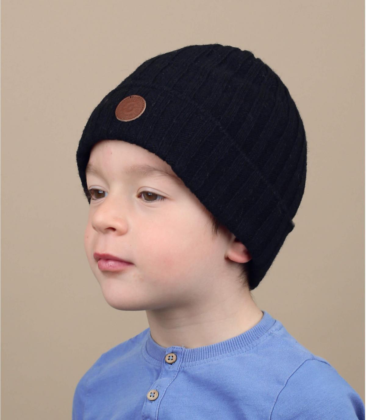 Mütze Rand Kinder schwarz