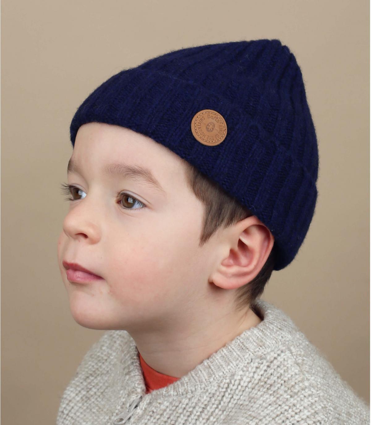 Mütze Rand Kinder blau