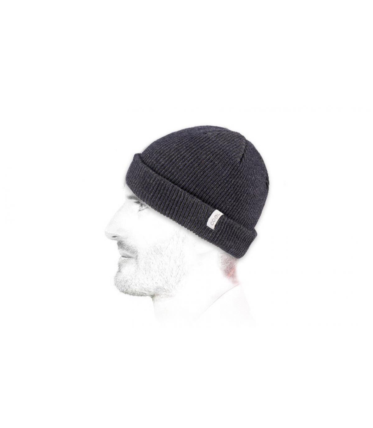Mütze Rand marineblau kurz Beanie