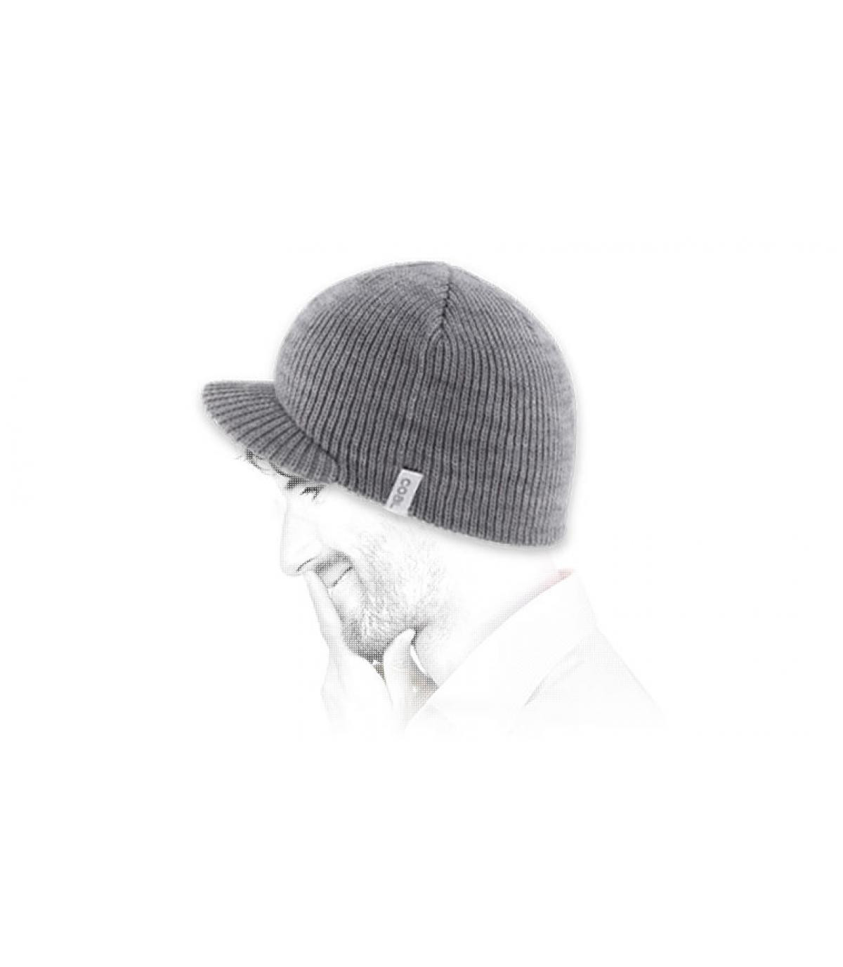 Mütze Schild grau Schirmmütze