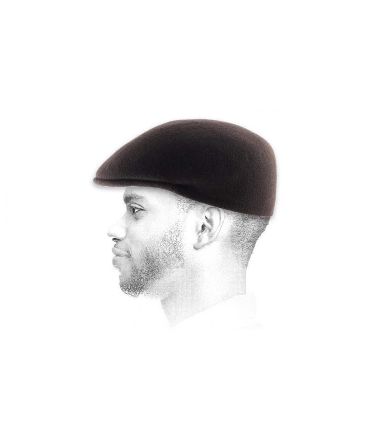 Flatcap Cap braun Barett