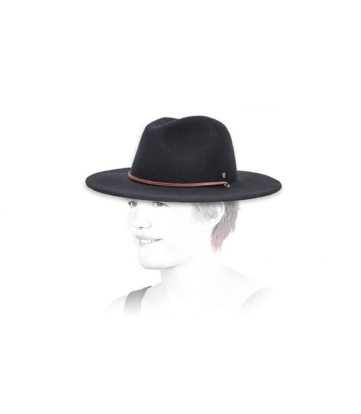 Hut krempe lang schwarz Brixton