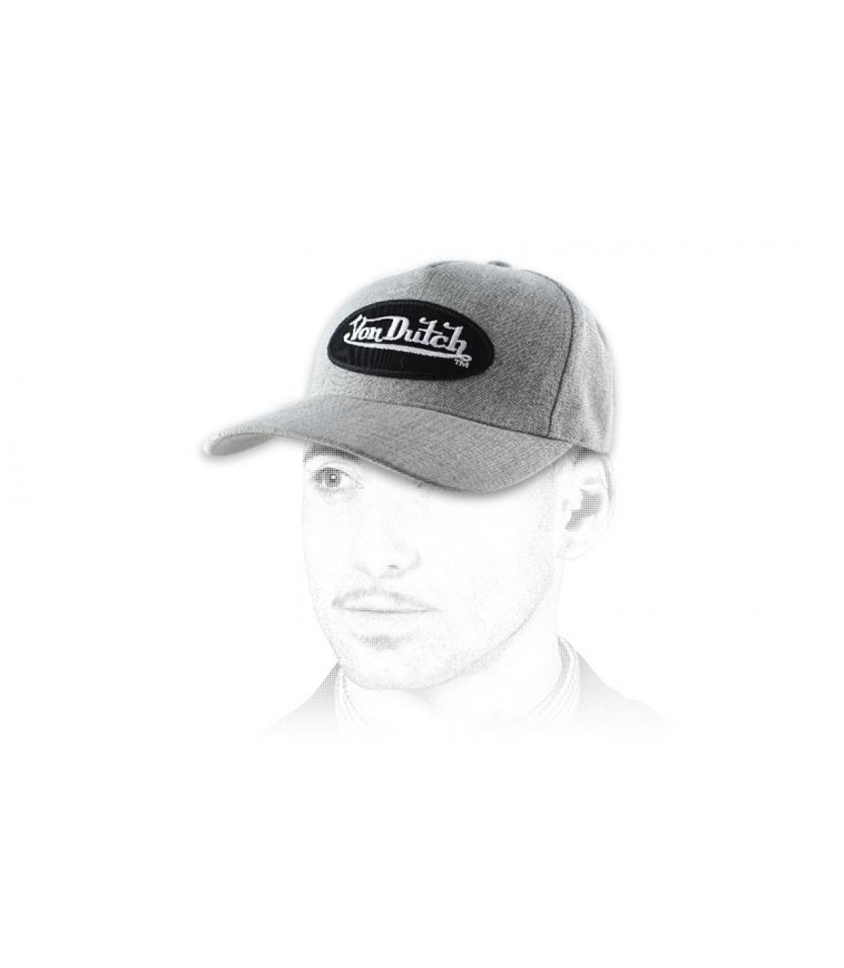 Trucker Cap Von Dutch grau meliert