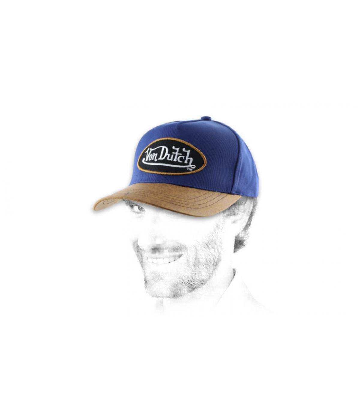 Blaue Netz Cap Von Dutch Lederschild