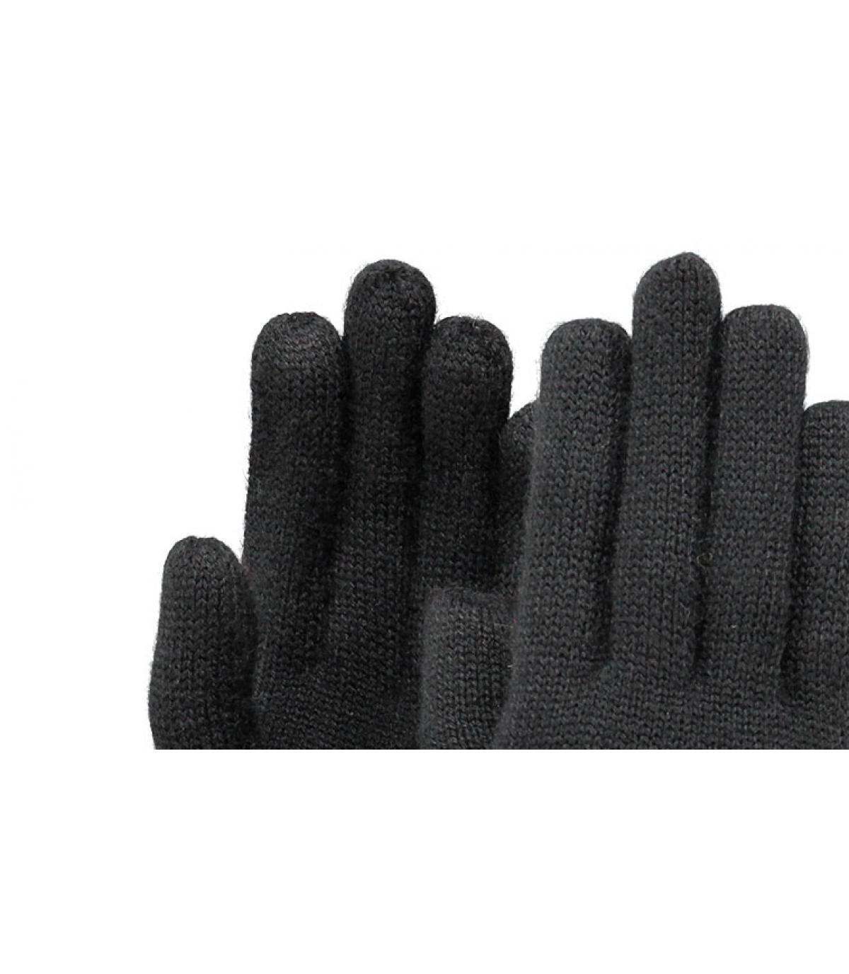 Details Fine Gestrickte Handschuhes schwarz - Abbildung 2