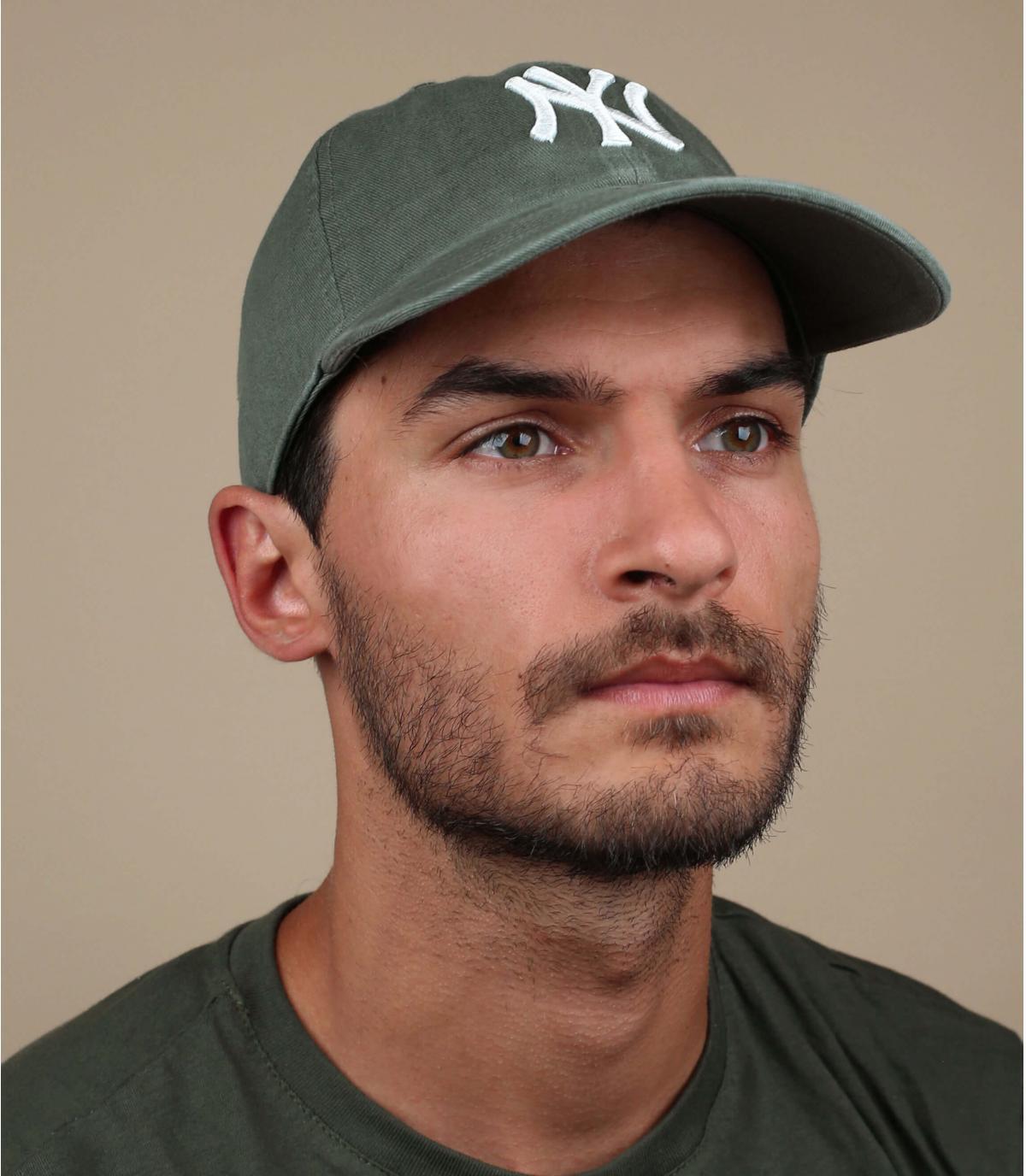 Cap NY grün khaki