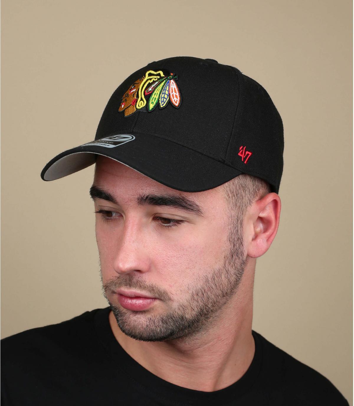 Cap Blackhawks schwarz