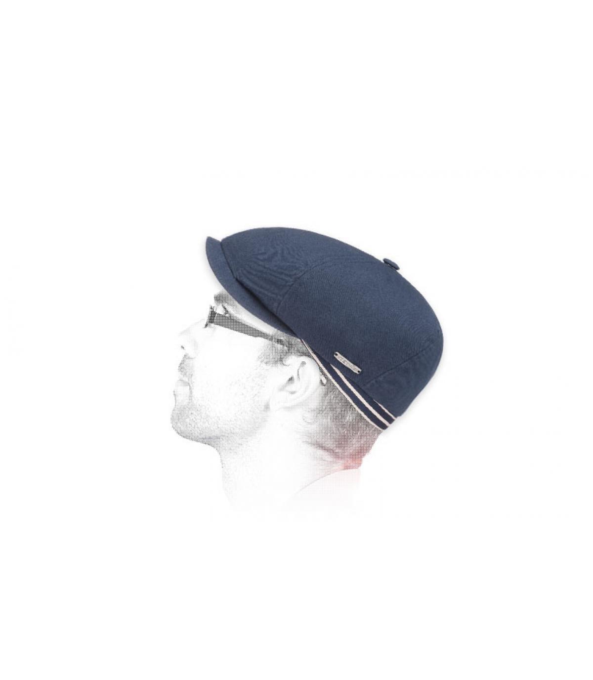 Zeitungsjungen Cap marineblau Stetson