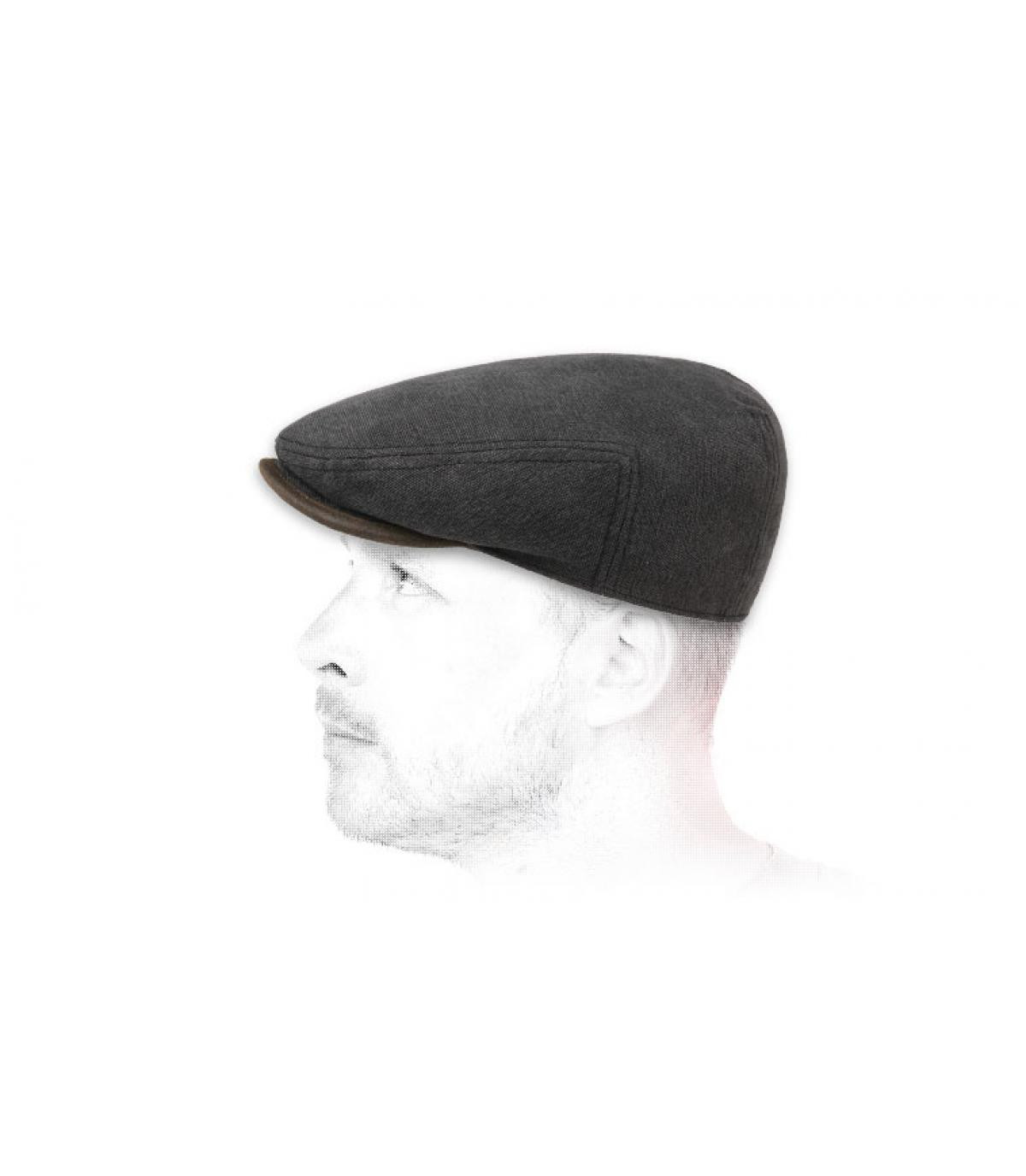 Flatcap Baumwolle schwarz