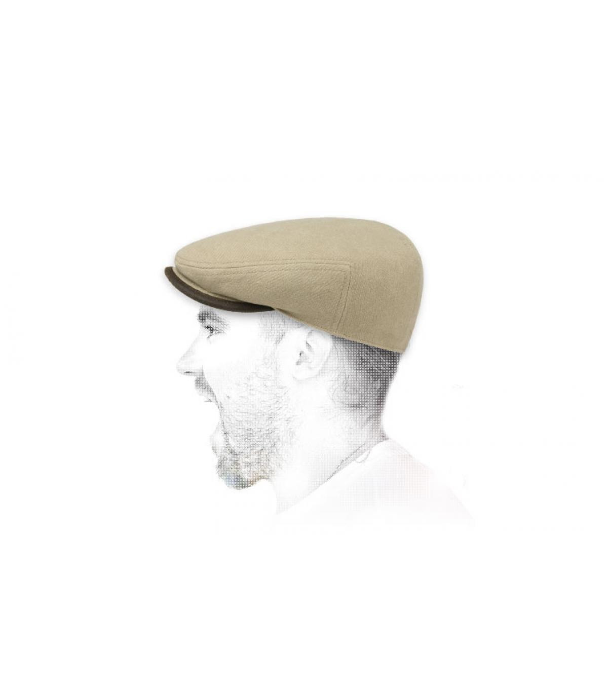 Flatcap Baumwolle beige