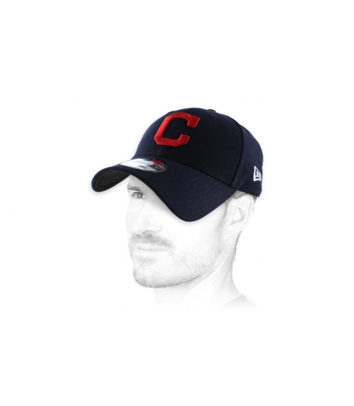 Cap Curve C rot blau