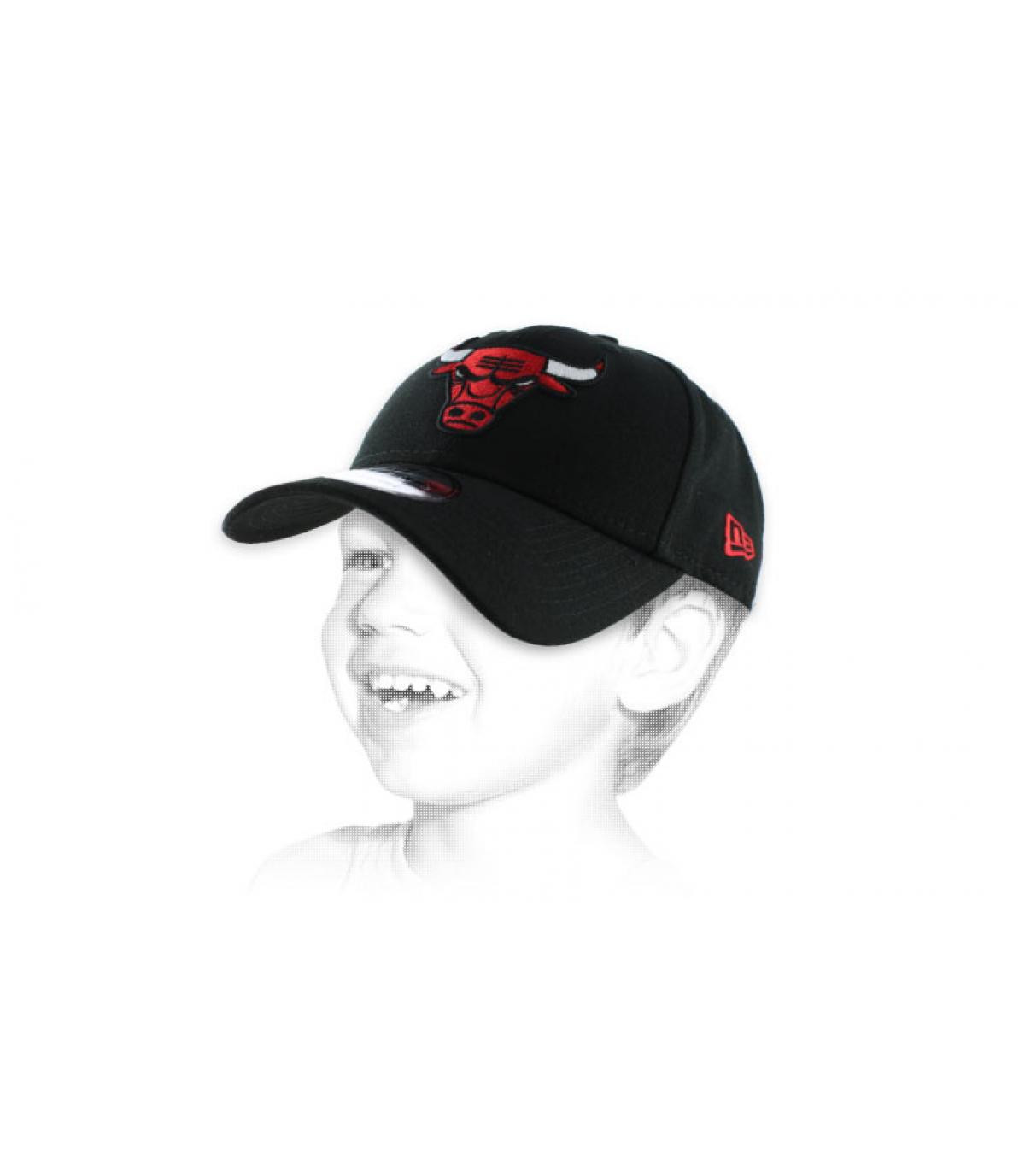 Kindercap Bulls schwarz