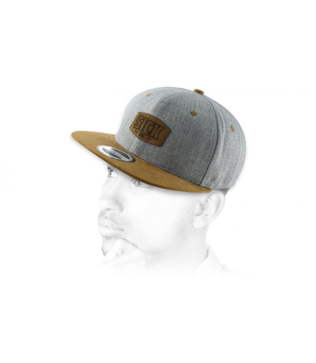 snapback sick bro grey brown