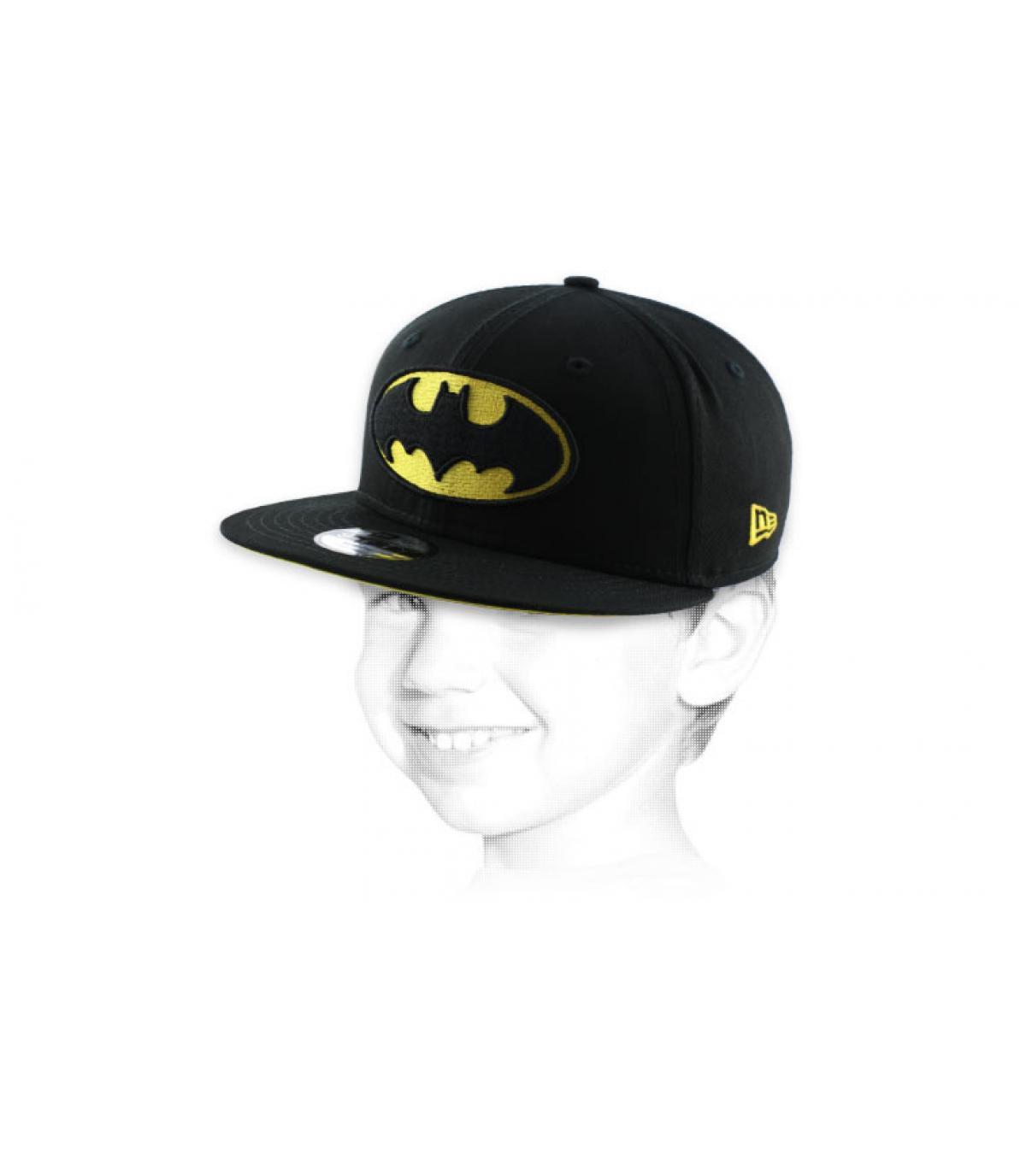 Kinder Cap Batman schwarz