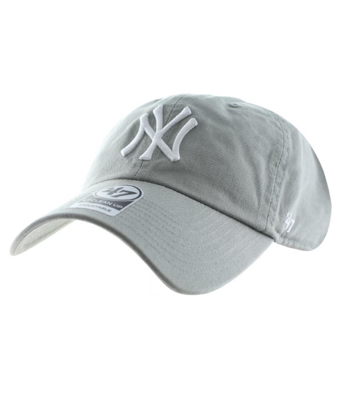Hellgraue NY Curved Cap