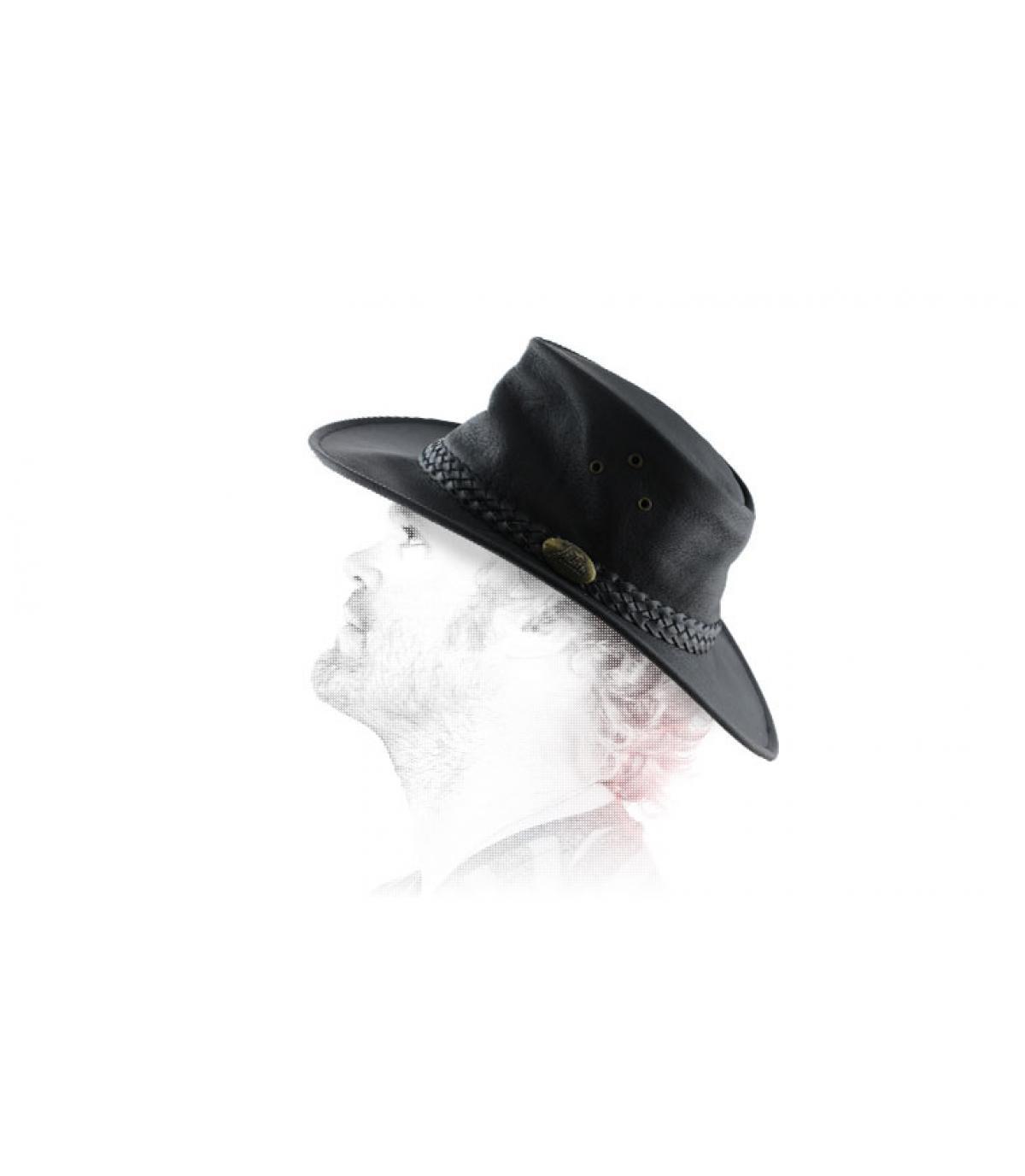 Australischer Hut aus gewachsten Leder