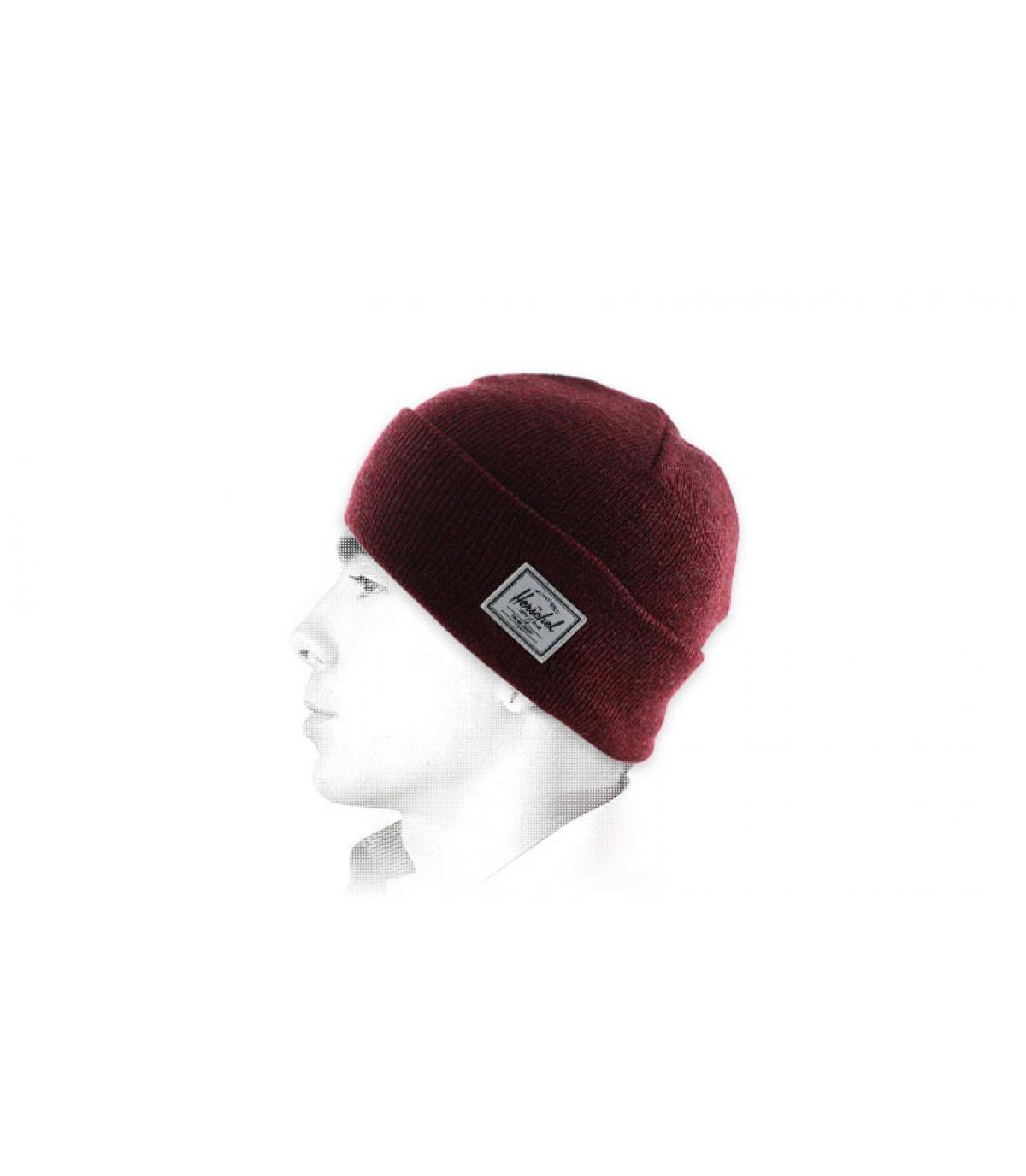 Mütze mit Rand bordeaux Herschel