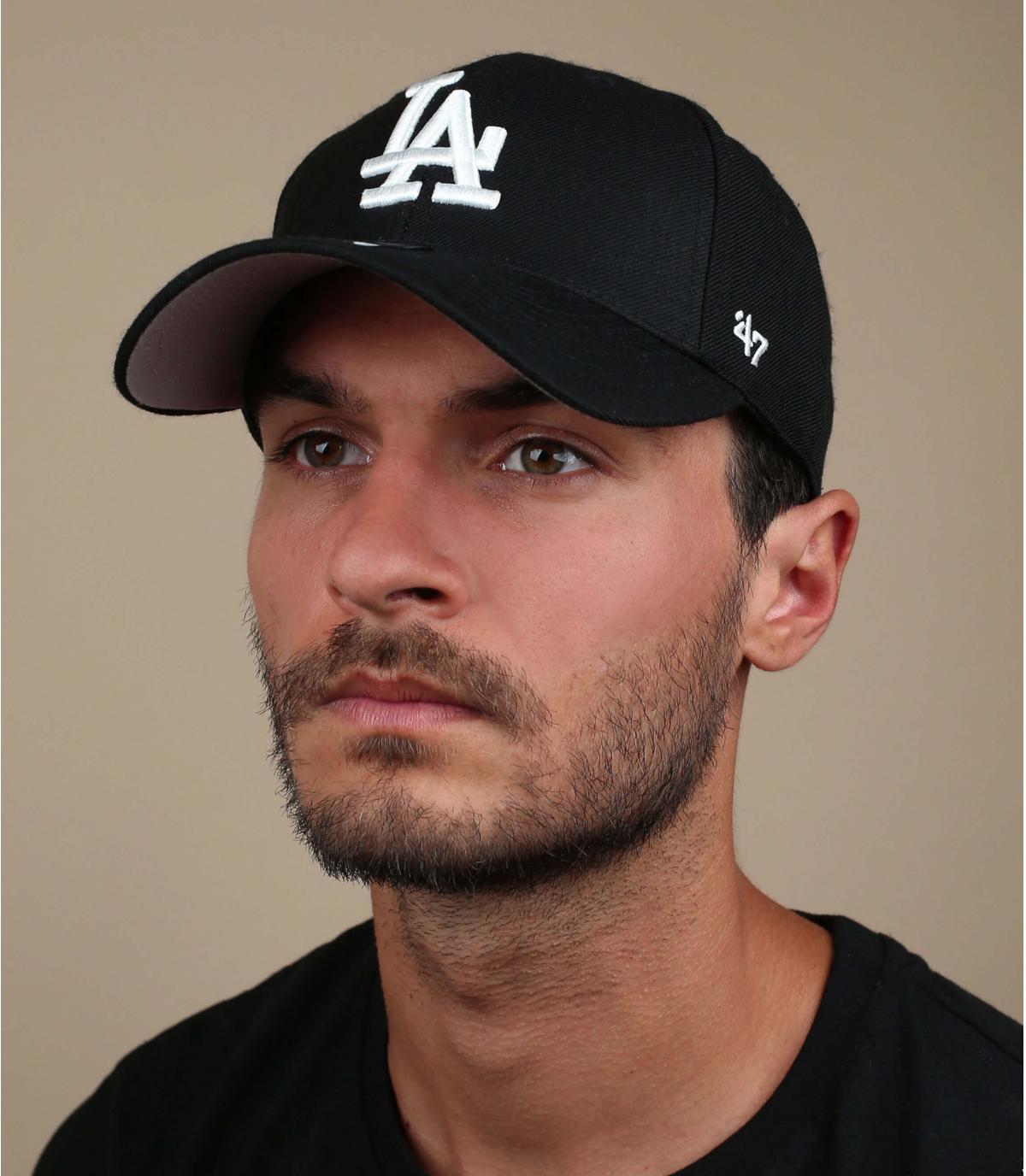 Schwarze LA Baseball Cap
