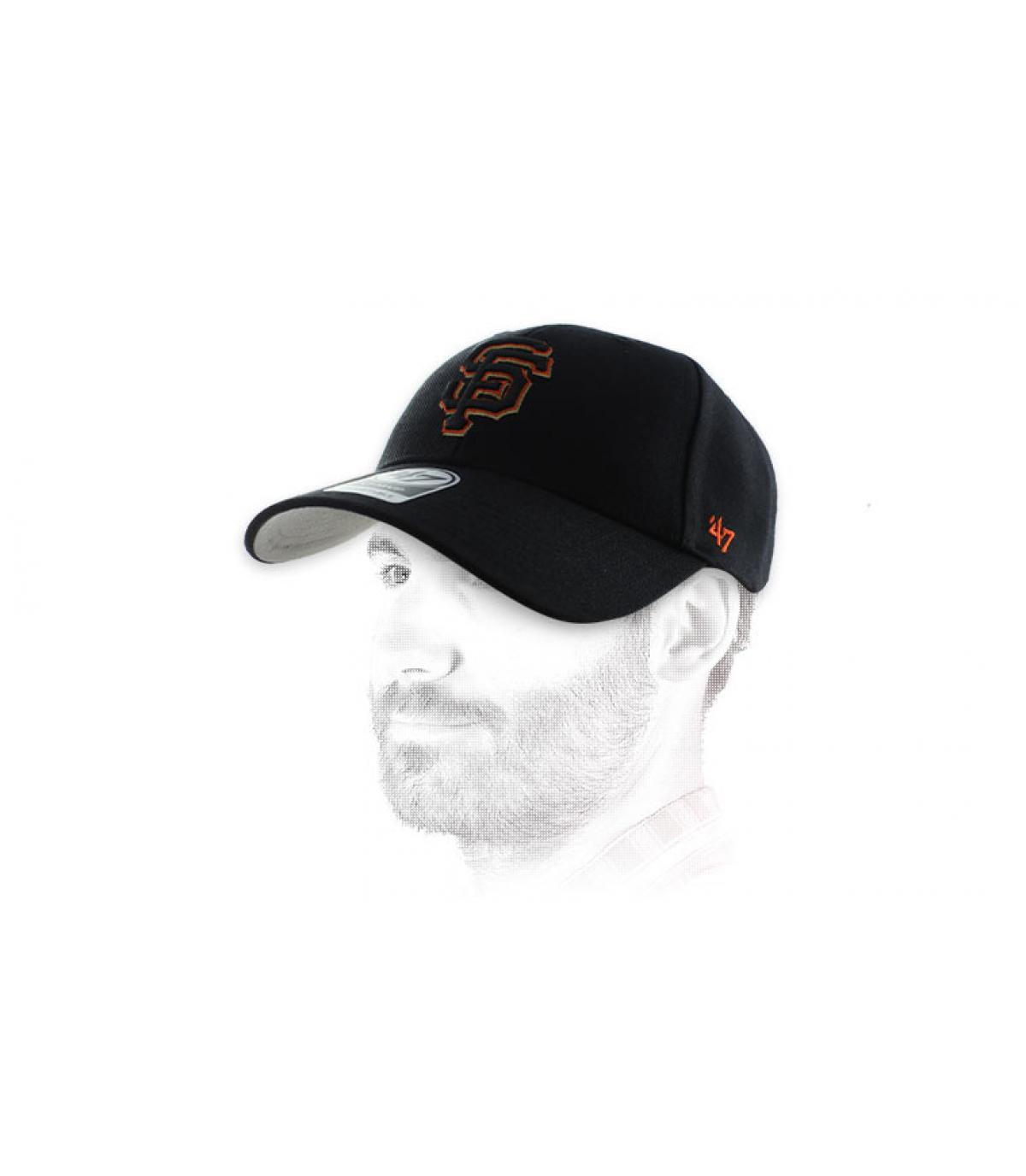 SF Cap schwarz orange