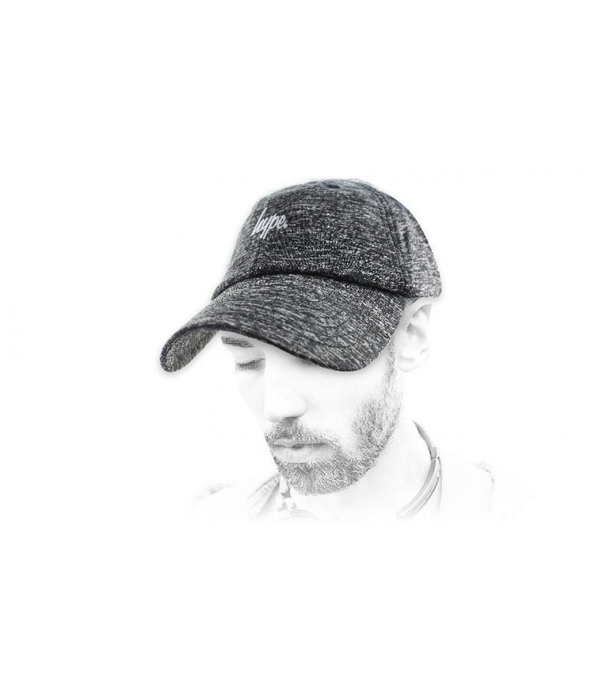 Grau melierte Hype Cap