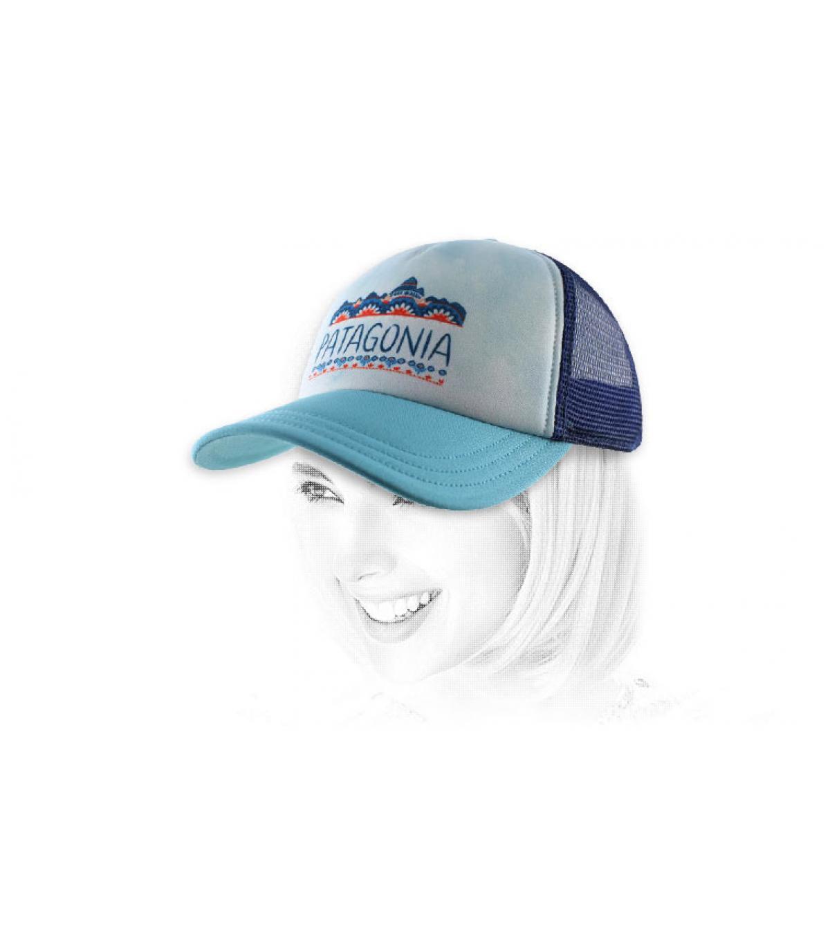 Blaue Damen Cap Patagonia