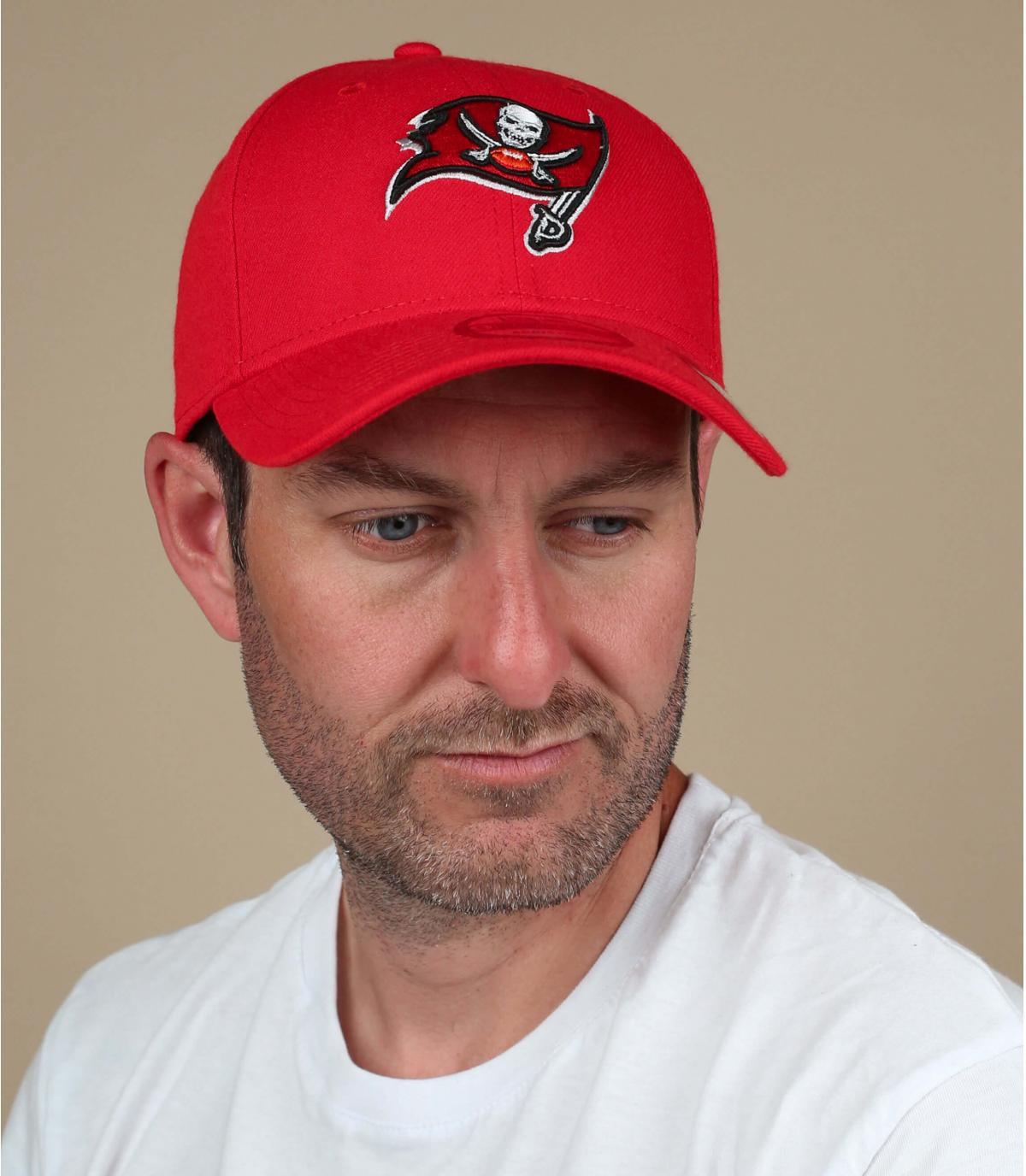 Schwarz rote Buccaneers Cap