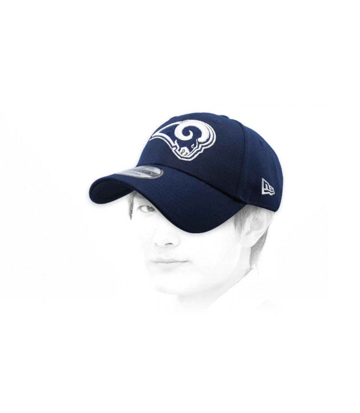 Blaue Rams Curved Cap