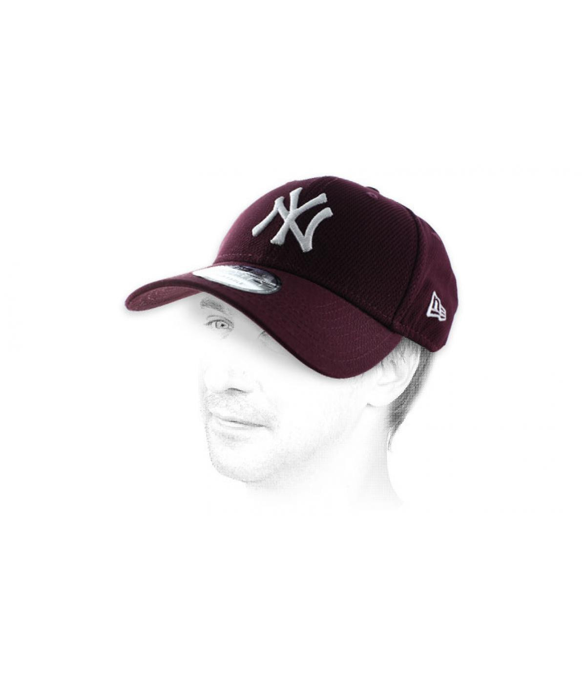 Cap NY Diamond bordeaux