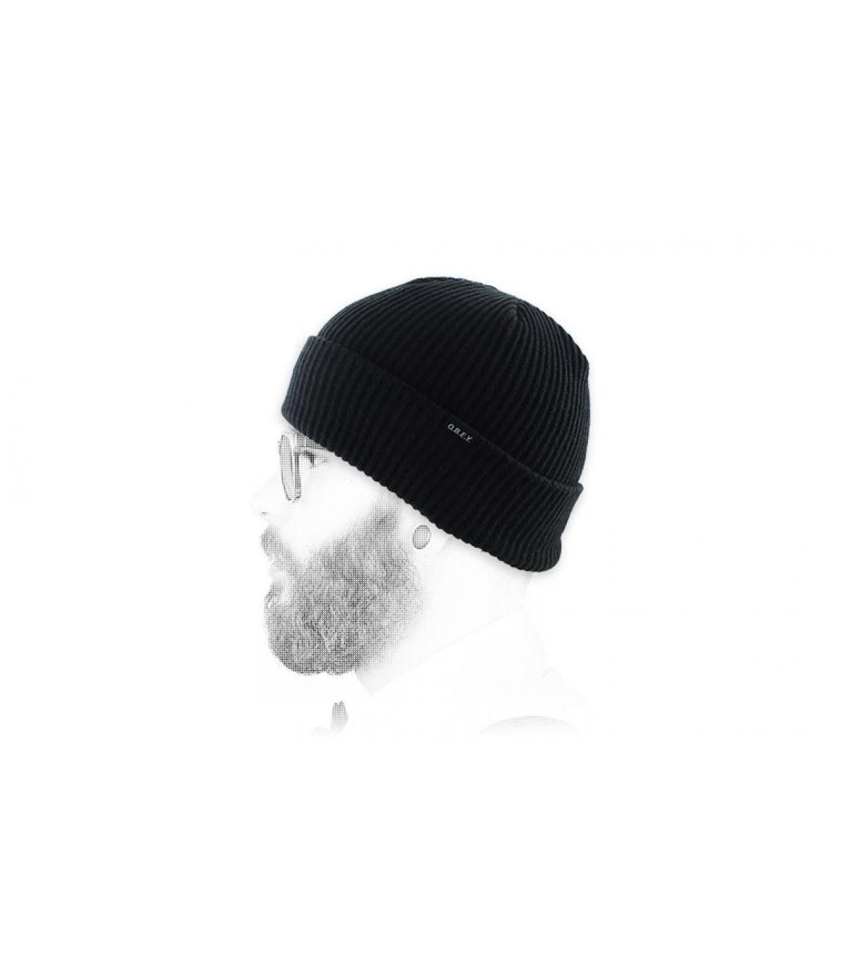 Mütze Revers Obey schwarz