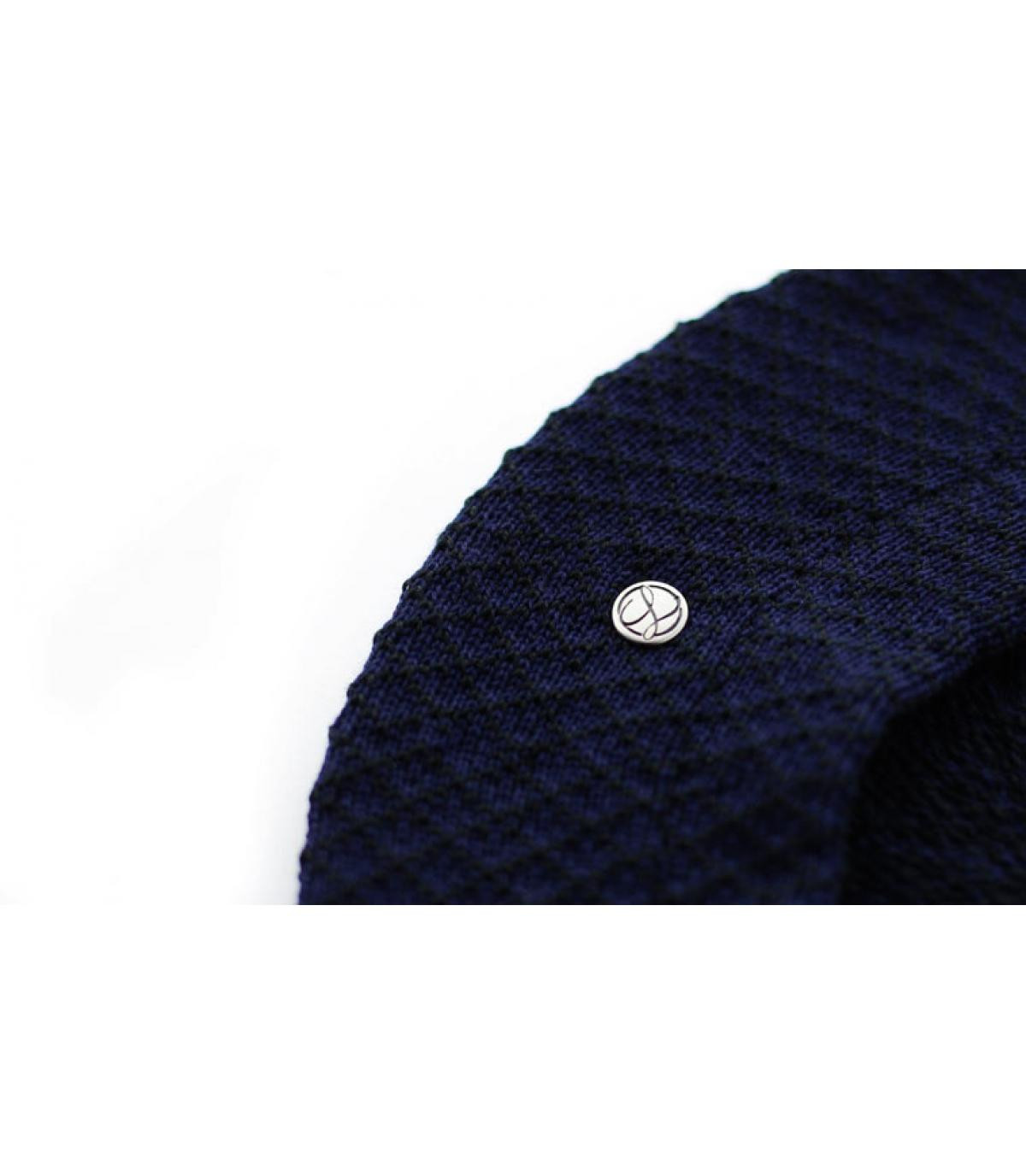 Details Béret Coton noir bleu nuit - Abbildung 3
